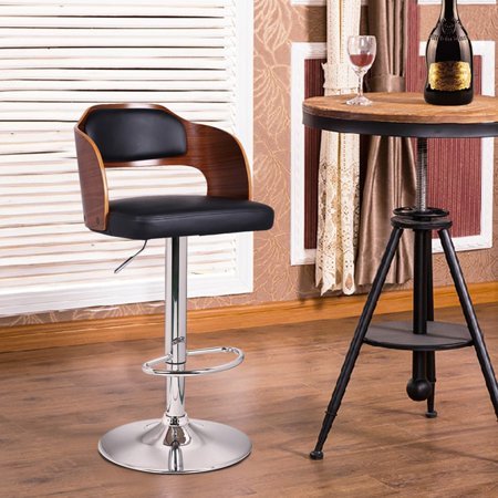 Enjoyable Adeco Walnut Off Black Modern Vented Back Adjustable Swivel Gmtry Best Dining Table And Chair Ideas Images Gmtryco