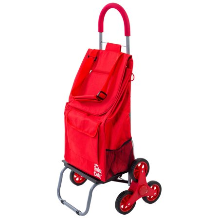 dbest products Stair-Climbing Trolley Dolly Bag - Rolling Foldable Cart