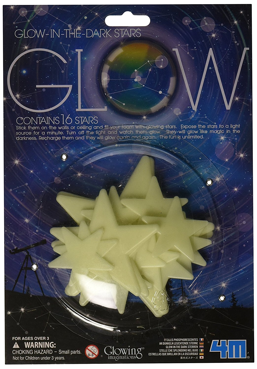 Glow Stars 16 Piece Turn Your Normal Ceilings And Walls Into A Magically Starry Night With These In The Dark By 4m From Usa
