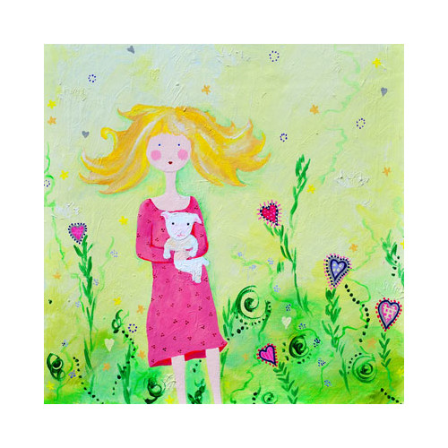 Cici Art Factory Wit & Whimsy Hug Canvas Art
