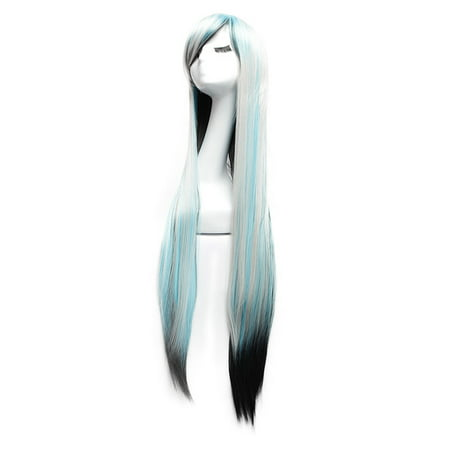 Dazone Halloween Wigs Long Straight Cosplay Costume Hair Multi-Color - Miku Halloween Cosplay