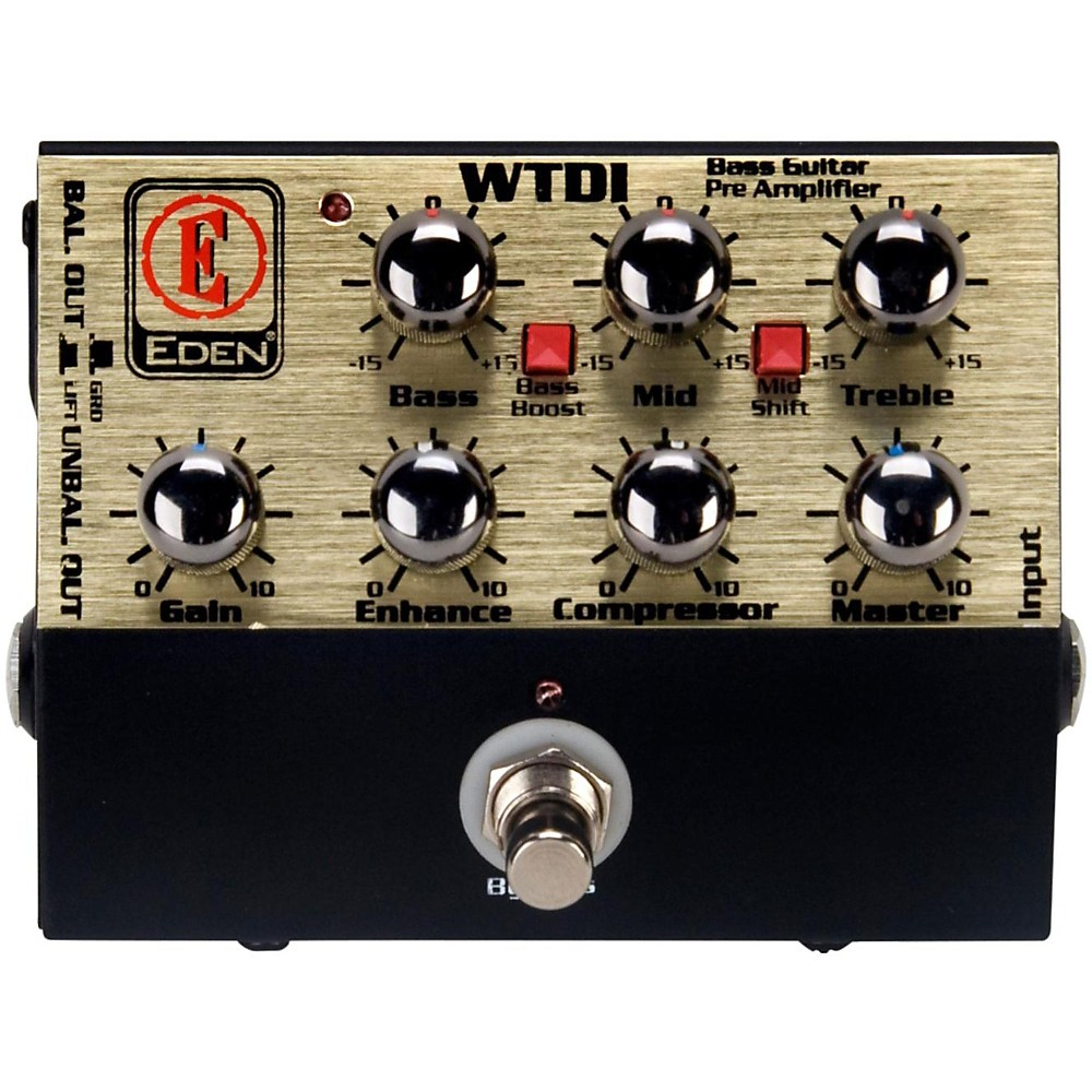 Eden WTDI World Tour Direct Box and Bass Preamp Black by Eden