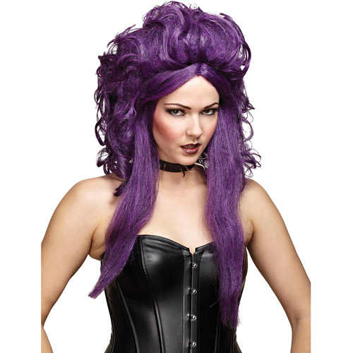 Black and Purple Sorceress Wig Adult Halloween Accessory