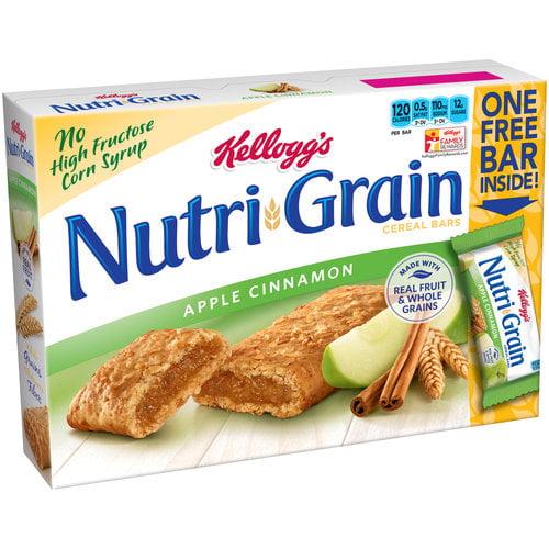 Kellogg's Nutri-Grain Apple Cinnamon Cereal Bars, 1.3 oz, 9 ct
