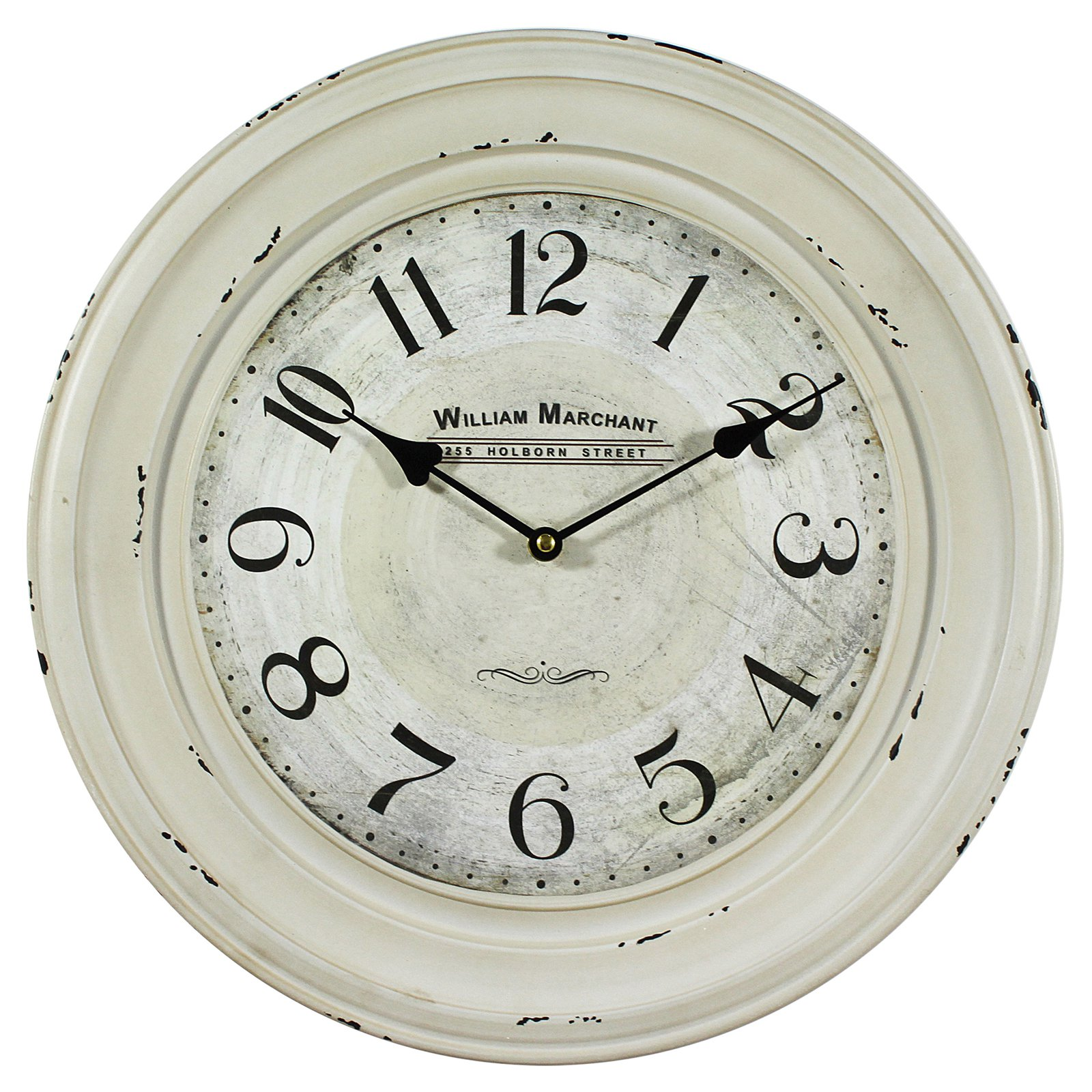 William Marchant 16 in. Wall Clock - Ivory