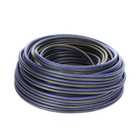 Black 12 Gauge Speaker Wire (Voodoo Blue / Black Speaker Wire 12 gauge True AWG true spec 588 strands (50 FT))