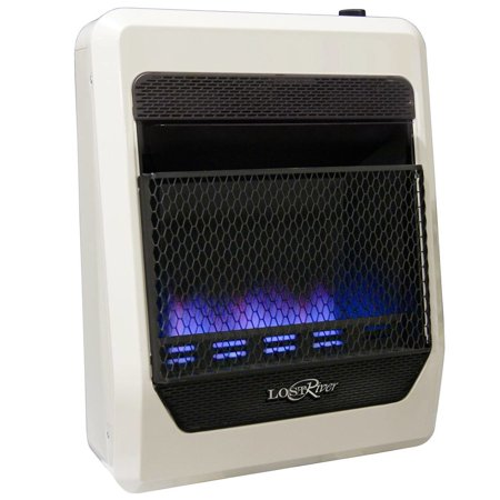 - Lost River Liquid Propane Gas Ventless Blue Flame Gas Space Heater - 20,000 BTU, Model# LRT20B-LP