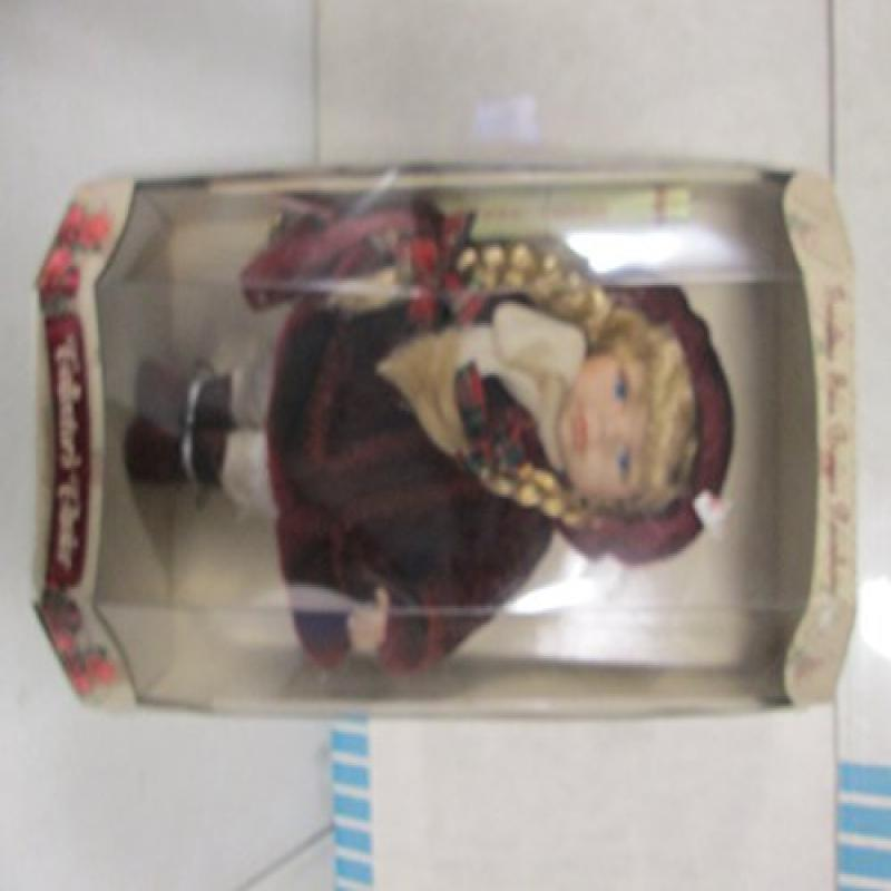 Collectors Choice Fine Bisque Porcelain Doll 'Burgundy Co...