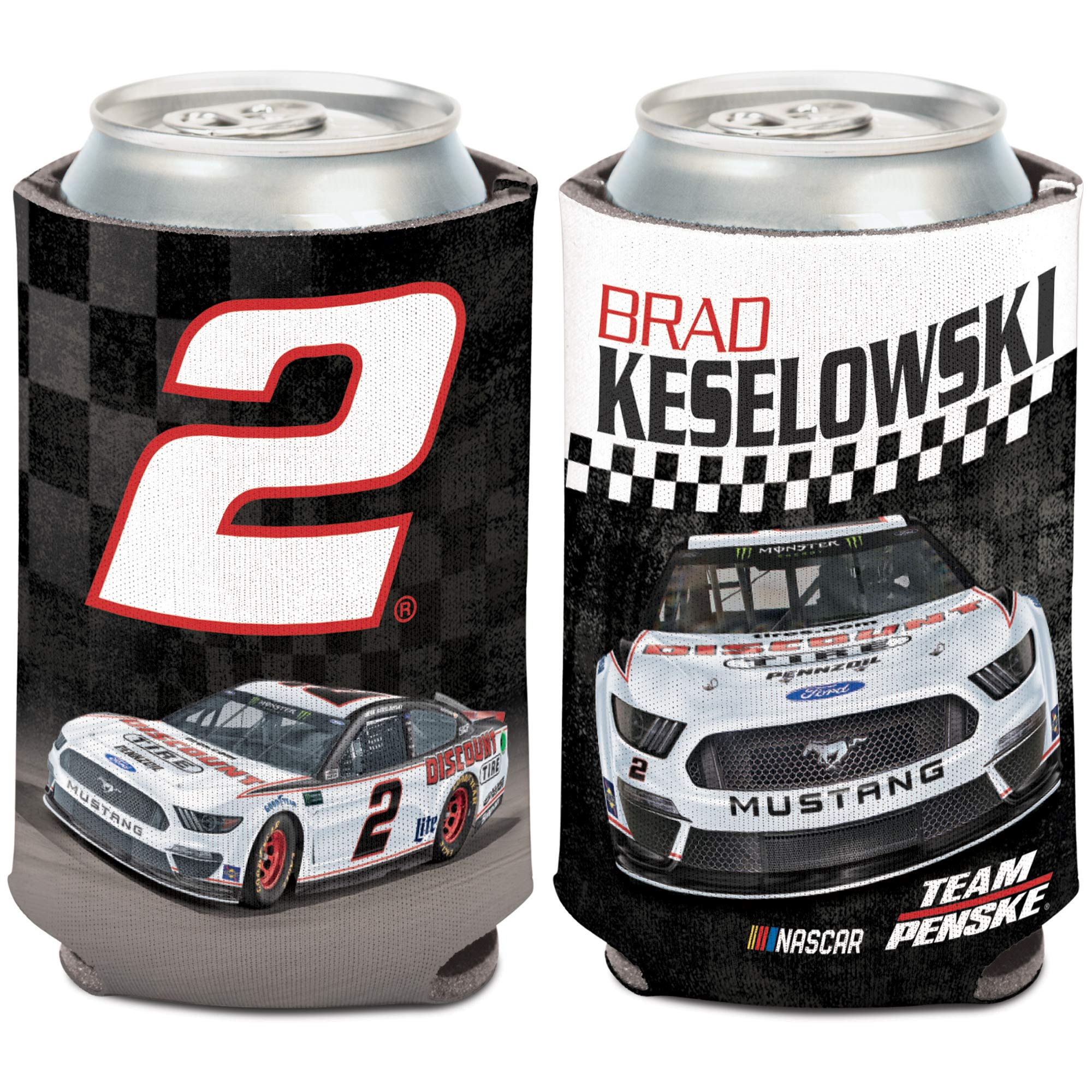 Brad Keselowski WinCraft 12oz. Discount Tire Car, Name & Number Can Cooler - No Size