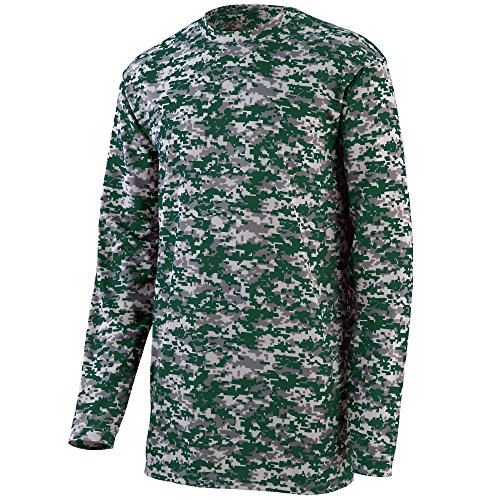Augusta Sportswear MEN'S DIGI CAMO WICKING LONG SLEEVE T-SHIRT 2XL Dark Green Digi