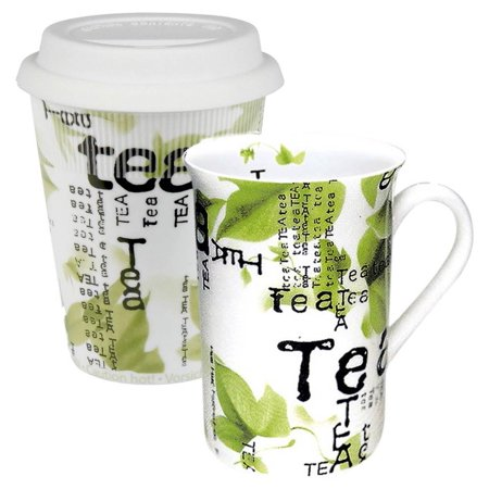 2-Pc Tea to Stay and Go Collage Mug Set