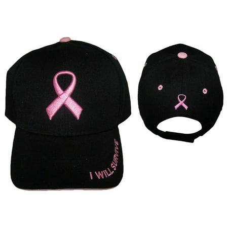 Breast Cancer Awareness Pink Ribbon Baseball Caps Embroidered (WomCap3 Z) Breast Cancer Baseball Caps