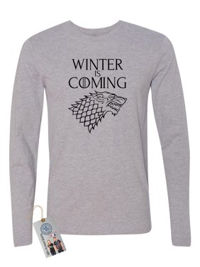 19da4ccc648 Product Image Games of Throne Winter is Coming Shirt Mens Long Sleeve T- Shirt