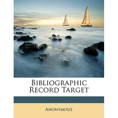 Bibliographic Record Target Bibliographic Record Target