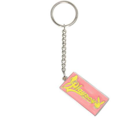 Playboy Handbag/Purse Charm Key Chain Pink and Yellow Bunny Tag for $<!---->
