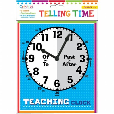 Pbs Publishing CTM1037 Creative Teaching Materials Telling Time Clocks - image 1 of 1