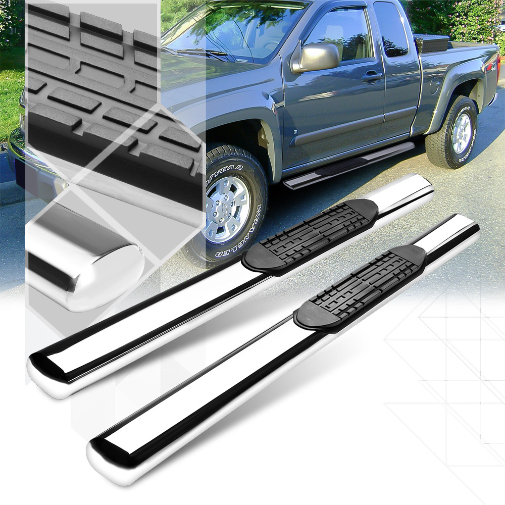 """Chrome 4""""Oval Side Step Nerf Bar Running Board for 04-12 Canyon/Colorado Reg Cab 05 06 07 08 09 10 11"""