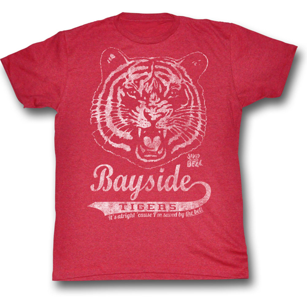 Saved By The Bell Men's  Bayside Vintage T-shirt Cherry Triblend