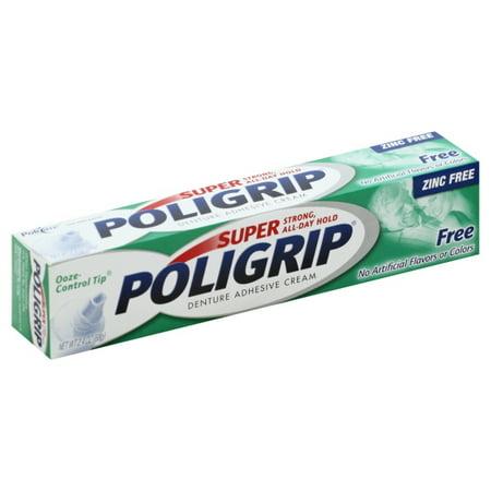 Poligrip Super Poligrip Denture Adhesive Cream 2.4 oz (Best Denture Adhesive 2019)