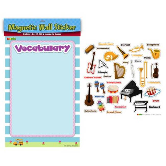 American Educational Products MAG-117 Musical Instruments Vocabulary Magnetic Wall Sticker - image 1 of 1