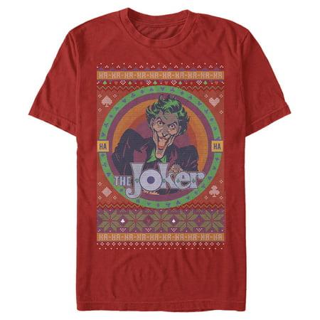 Batman Men's Joker Ugly Christmas Sweater T-Shirt ()