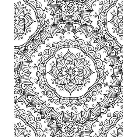 Flower Power Journal - Bullet Journal Notebook Flower Mandala Pattern 2: 172 Numbered Pages with 160 Dot Grid Pages, 6 Index Pages and 2 Key Pages in Large 8 X 10 Size for Journaling, Writing, Planning or Doodling. (Paperba