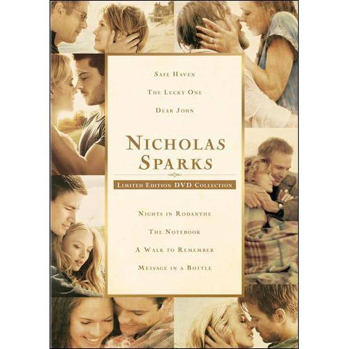 Nicholas Sparks: Limited Edition DVD Collection - Safe Haven / The Lucky One / Dear John / The Notebook / A Walk To Remember / Message In A Bottle / Nights In Rodanthe (Widescreen) - Be Safe On Halloween Night