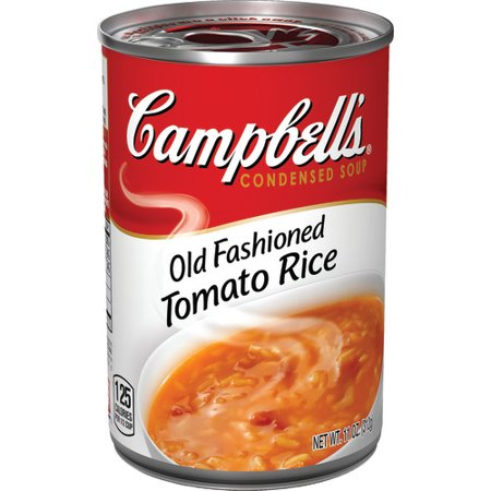 (Campbell's Condensed Old-Fashioned Tomato Rice Soup, 11 oz.)