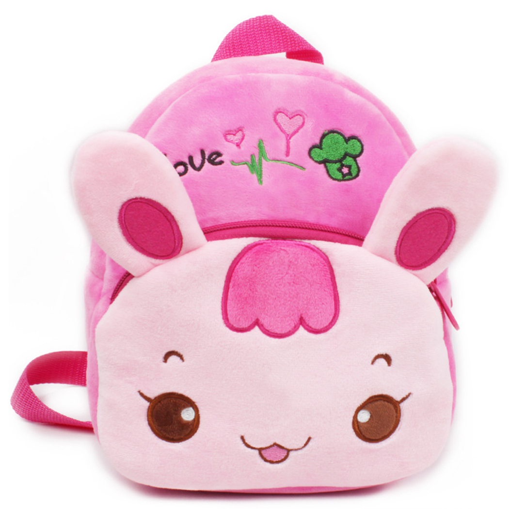 Toddler Backpack, Coofit Plush Backpack Creative Rabbit Mini Kindergarten School Backpack Casual Small Travel Bag for Children Girls Boys Kids