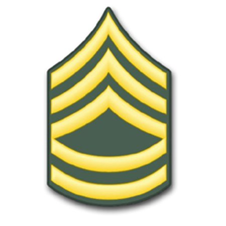 5.5 Inch U.S. Army E-7 Sergeant 1st Class Rank Insignia Window Sticker ()
