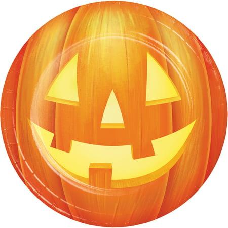 Halloween Pumpkin Dessert Plates, 24 count - Halloween Pumpkin Dessert Ideas