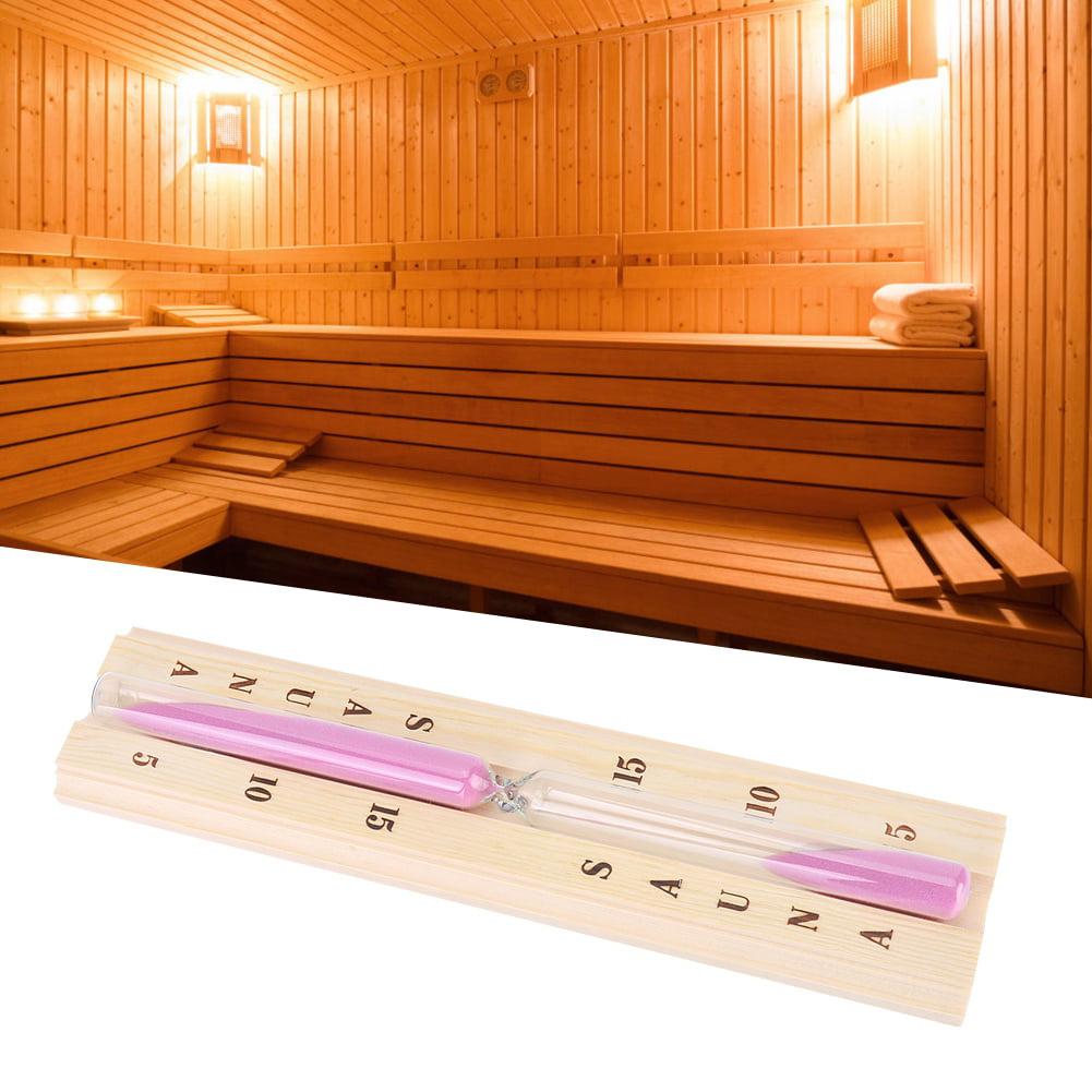 Sauna Hourglass Sauna Equipment 15 Minute Wood Sauna Hourglass Clock Sand Timer Clock For Sauna Spa Room Bathroom Durable 29.2X6.7X3.5cm