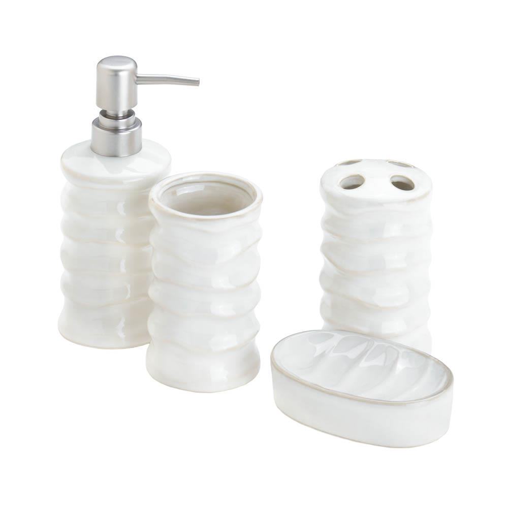 White Bath Accessory Set by Accent Plus