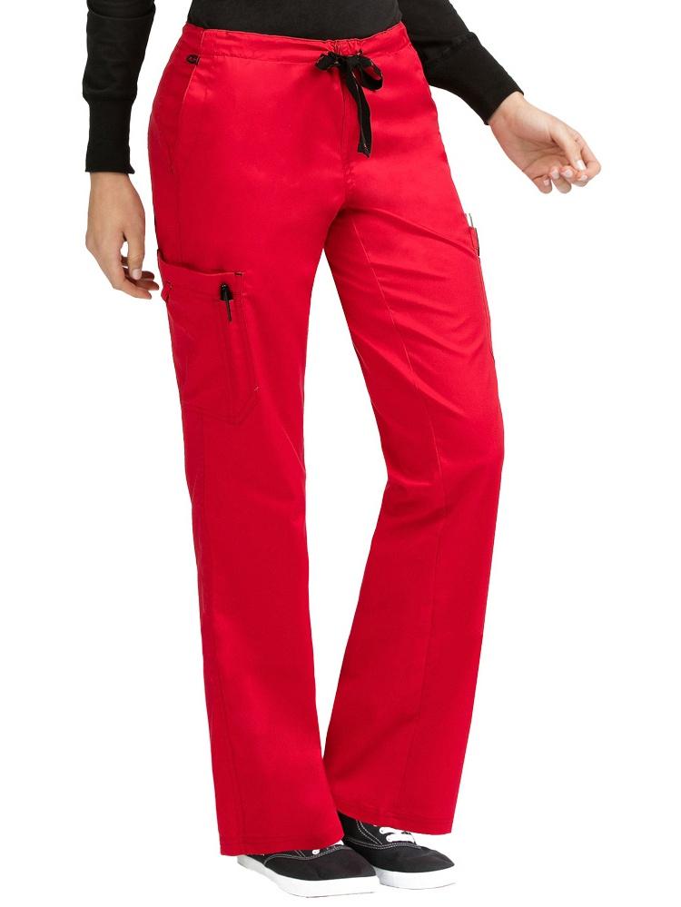 Med Couture Women's 'MC2' Layla Scrub Pant, Black, X-Small Petite