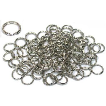 100 Nickel Plated Split Ring Chain Parts Findings (Chain Findings)