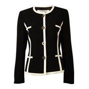 Women's Collarless Button Up Blazer