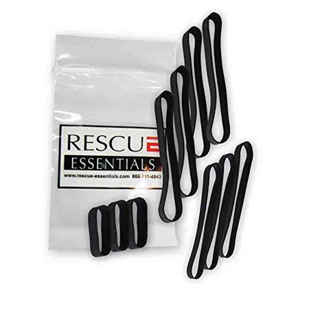 Epdm Rubber Bands - ROCKET BANDS - EPDM BLACK RUBBER BANDS - 10 PACK VARIETY, Made out of EPDM Rubber for outstanding heat, UV, and saltwater resistance By Rescue Essentials