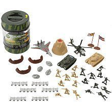 Army Playset In Bucket By Toysrus