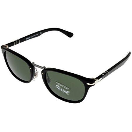 Persol Typewriter Edition Sunglasses Unisex Black Square PO3127S 95/31 Size: Lens/ Bridge/ Temple: 52_22_145_43.1