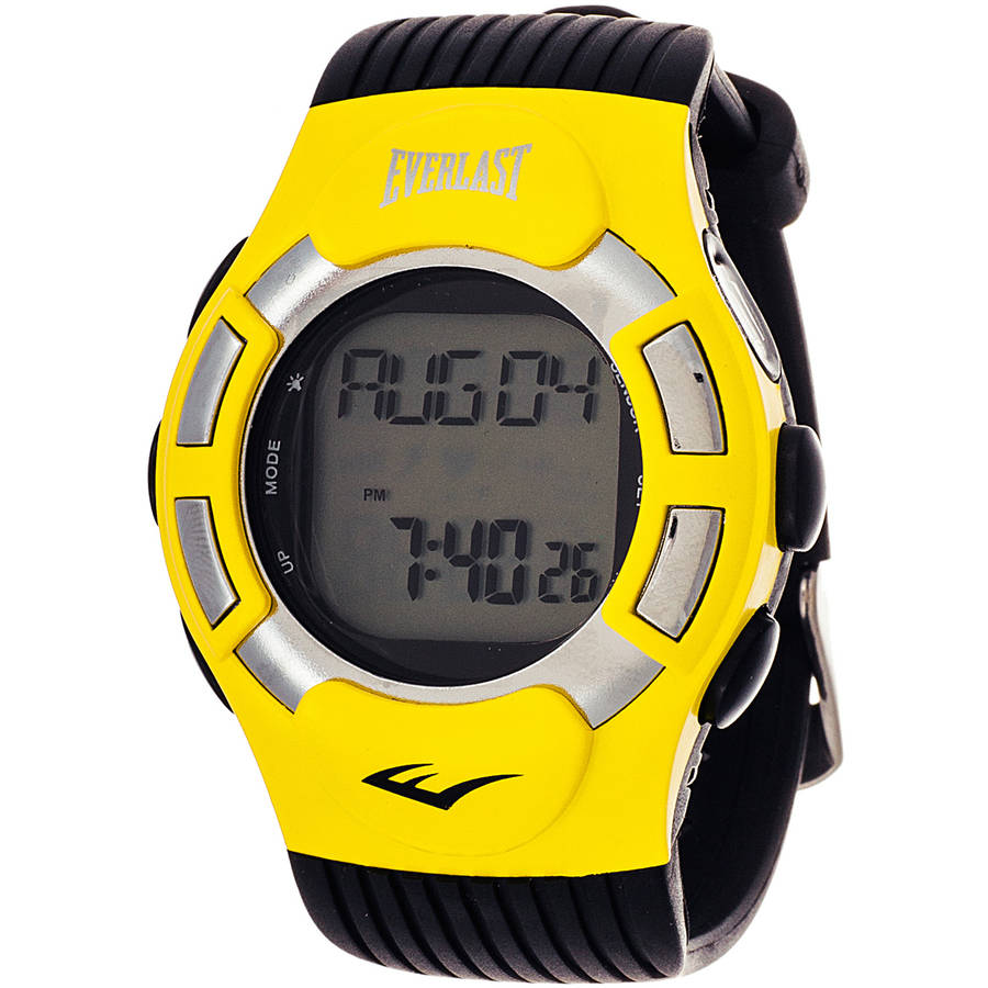 Everlast Unisex HR1 Finger-Touch Heart Rate Monitor Watch, Black Plastic Band