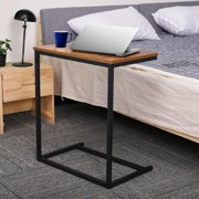 C Shaped Side Sofa Table C Table End Table Laptop Desk PC Computer Desk Snack Table Couch Tray Side Table with Metal Frame
