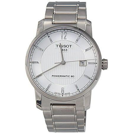 98e6e5d6c Tissot - T Classic Automatic Silver Dial Titanium Mens Watch T0874074403700  - Walmart.com