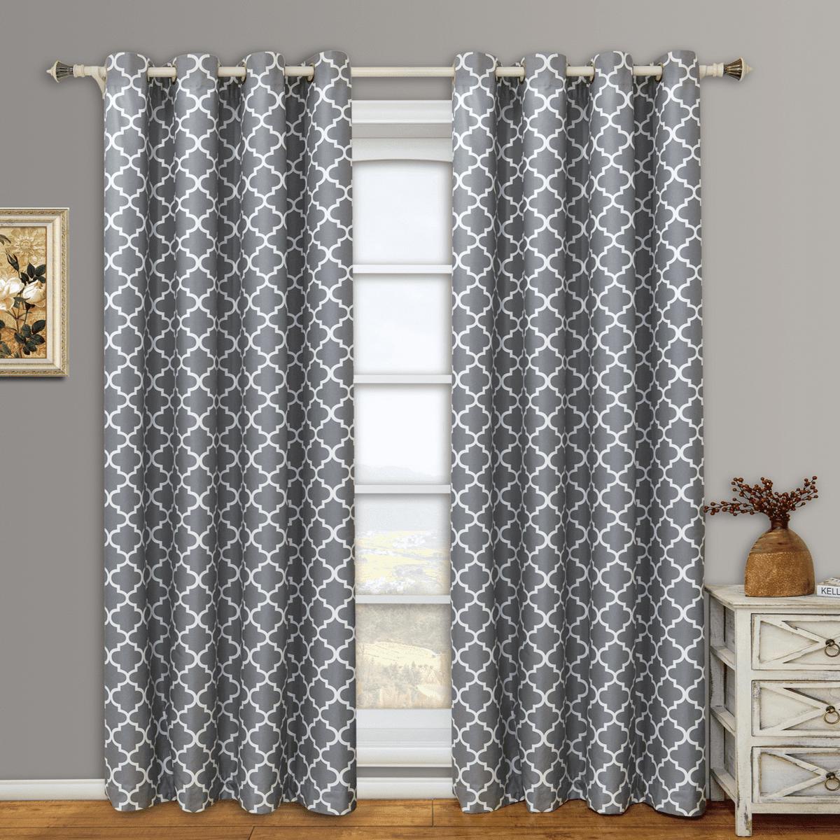 Pair Meridian Room Darkening Thermal-Insulated Grommet Window Curtain Panels ( Set of 2 ) - Coral - 104x84