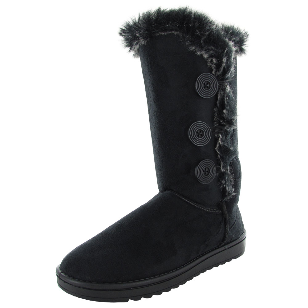 Babe Women 6910 Triple Button Shearling Winter Boot Shoe by Winter Boots