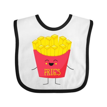 Baby French Fry Costume (French Fries Costume Baby Bib White/Black One)