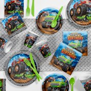 Monster Truck Birthday Party Supplies Kit for 8 Guests