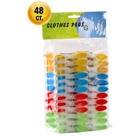 Cloth Pins (Greenco Laundry Clips - Plastic Clothespins with Spring - 48)