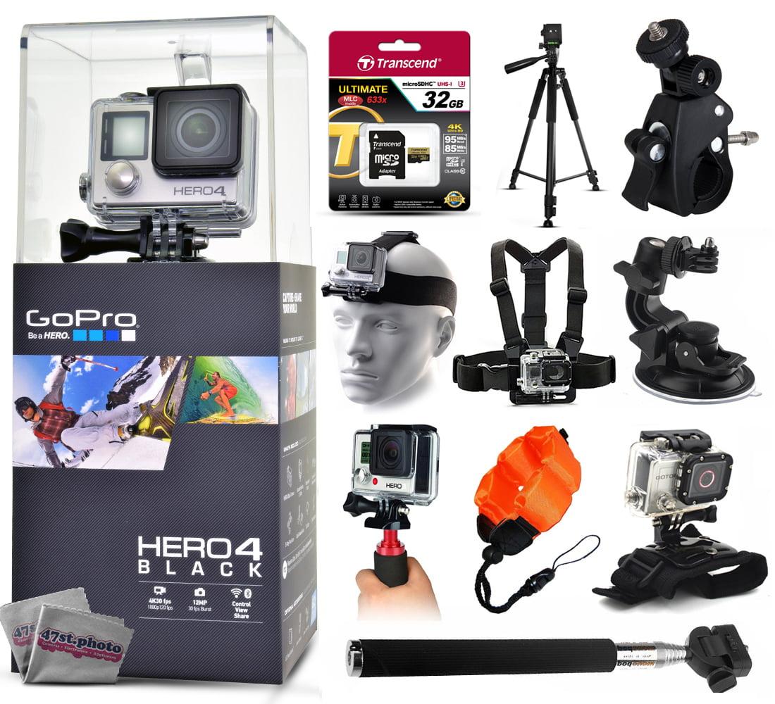 GoPro Hero 4 HERO4 Black CHDHX-401 with 32GB Ultra Memory...