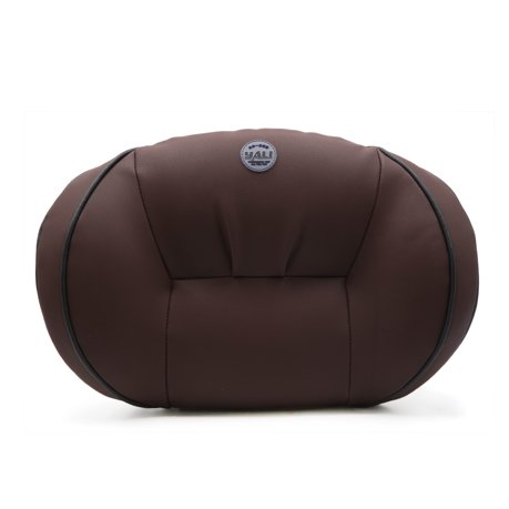 Brown Faux Leather Lumbar Back Support Rest Memory Pillow