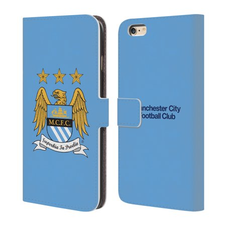 OFFICIAL MANCHESTER CITY MAN CITY FC CREST LEATHER BOOK WALLET CASE COVER FOR APPLE IPHONE PHONES